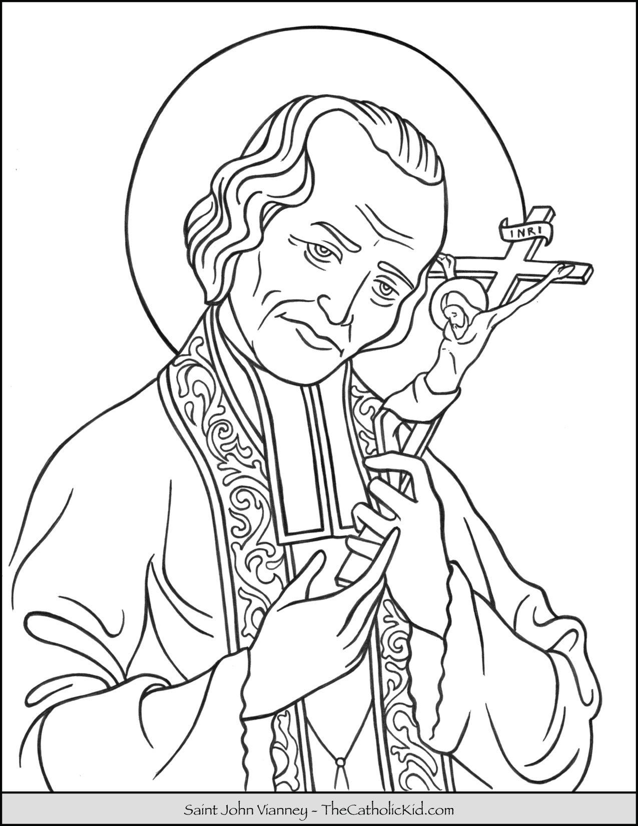 Saint John Vianney Coloring Page