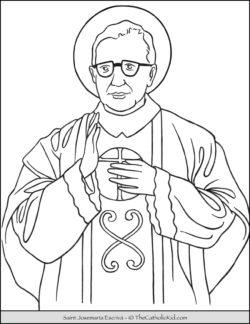 Saint Josemaria Escriva Coloring Page