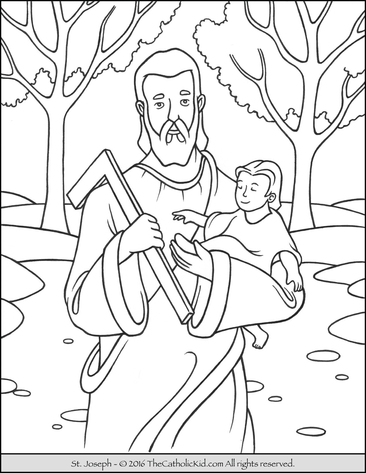 st joseph coloring page easy ways to celebrate saint joseph in your catholic home