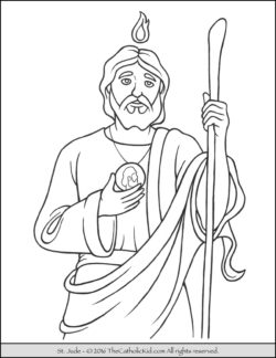 Saint coloring pages the catholic kid for St joseph coloring page