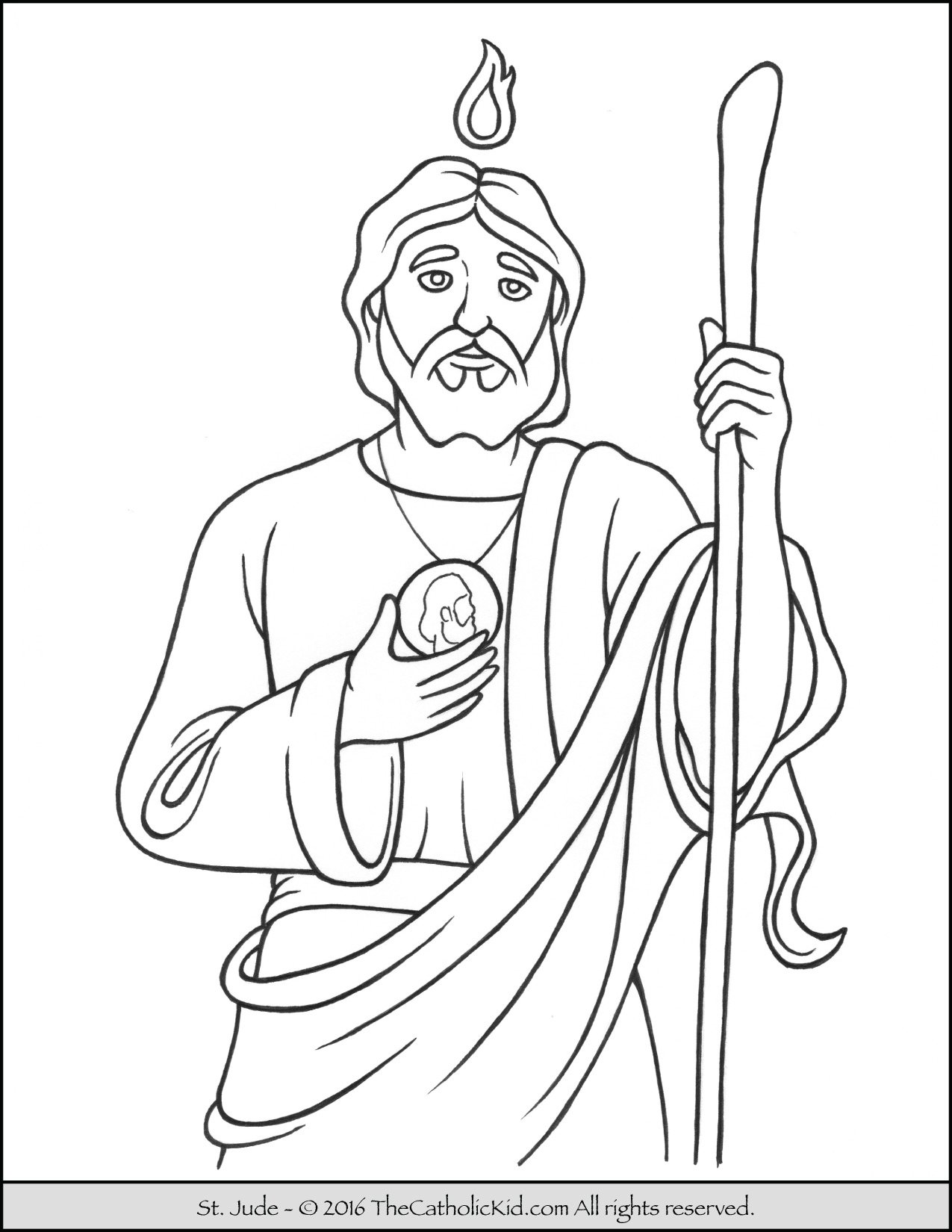 Saint Jude Coloring Page The Catholic Kid St Jude Coloring Page