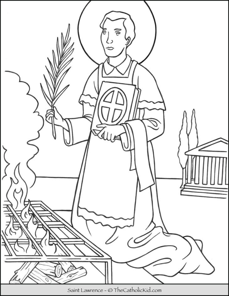 Saint Lawrence Coloring Page