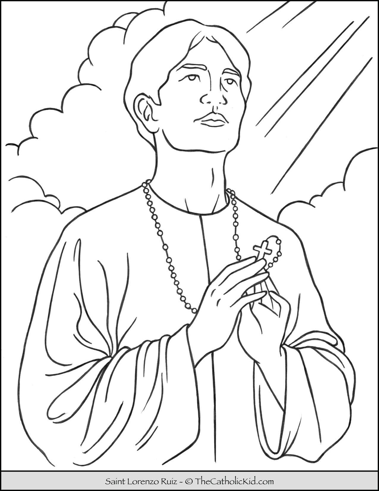 Saint Lorenzo Ruiz Coloring Page