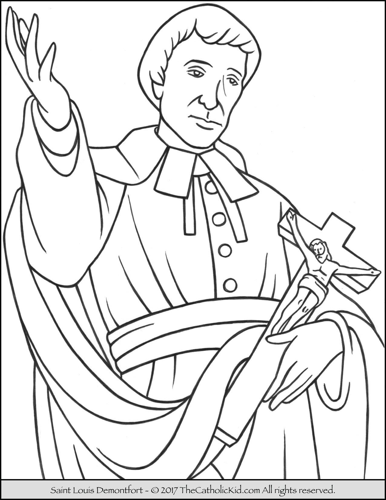 Saint Louis Demontfort Coloring Page