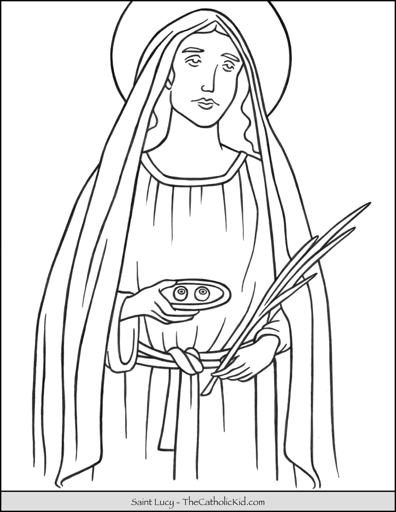 Saint Lucy Coloring Page