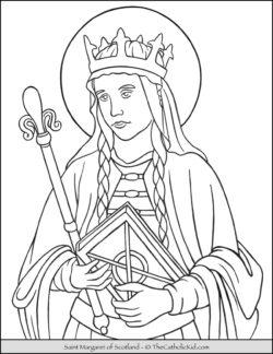 Saint Margaret of Scotland Coloring Page