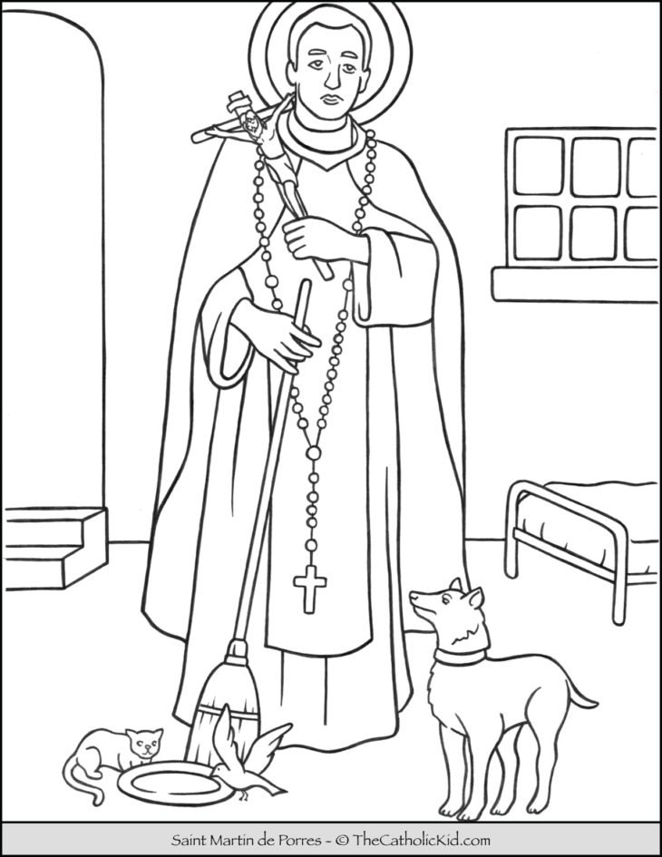 Saint Martin de Porres Coloring Page