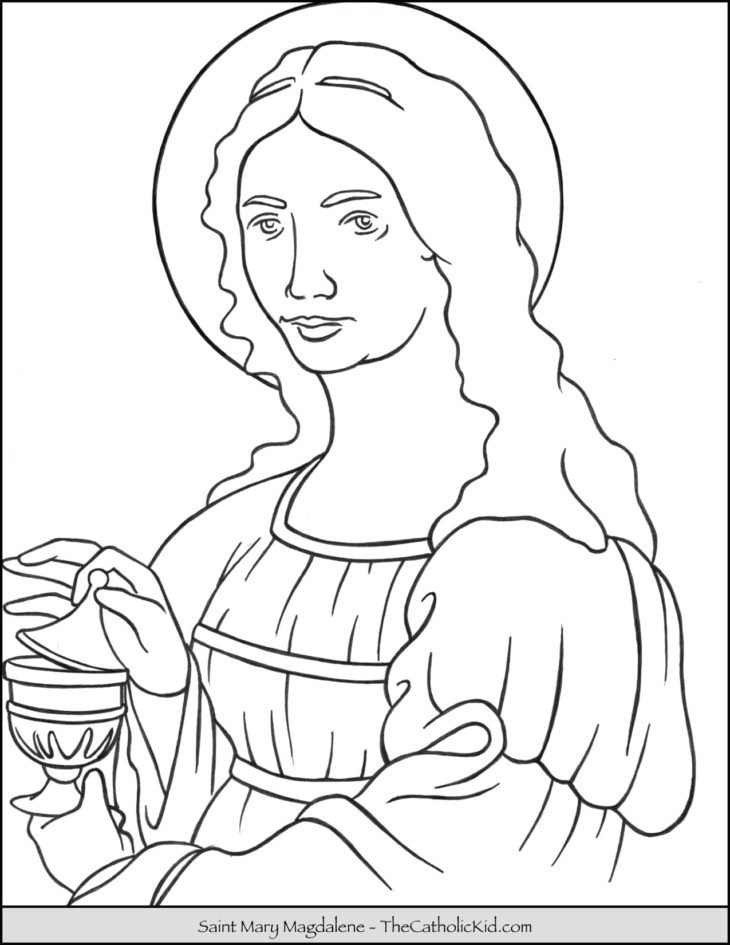 Saint Mary Magdalene Coloring Page