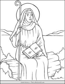 Saint Monica Coloring Page