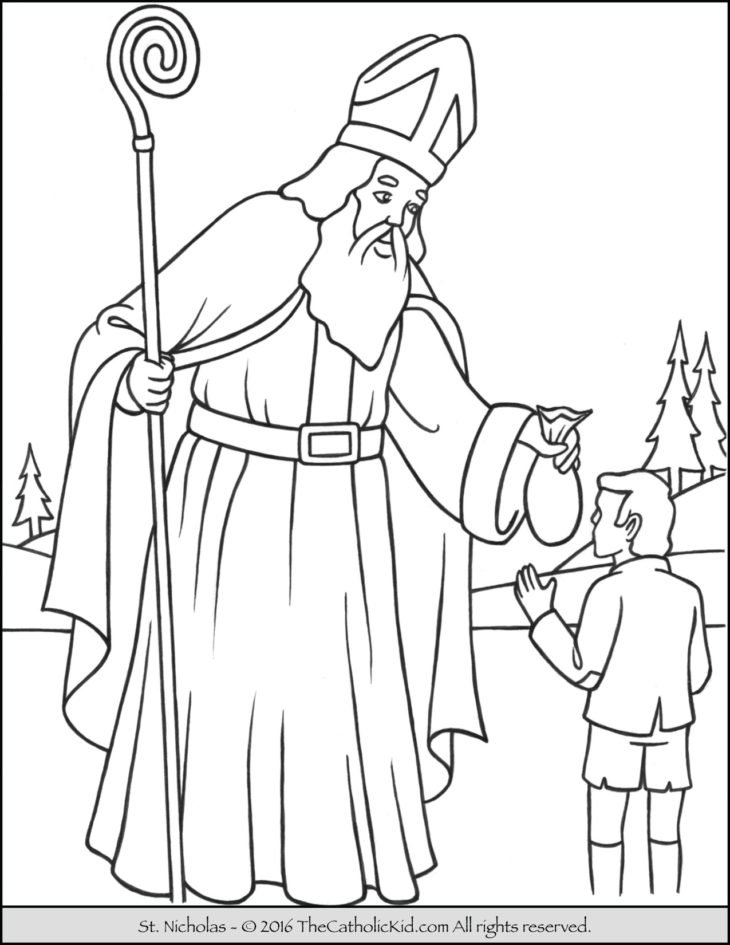 catholic christmas coloring pages - saint archives the catholic kid catholic coloring