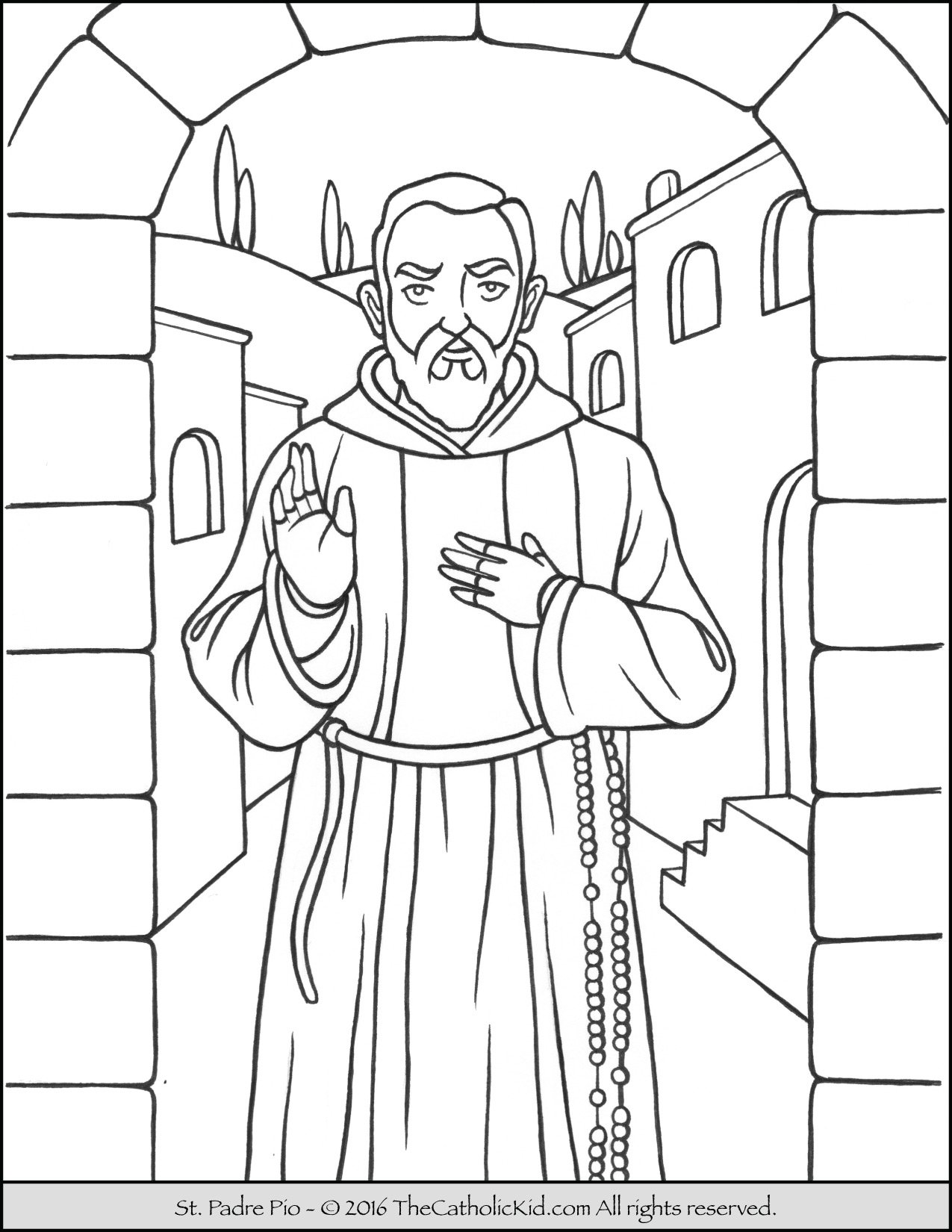 saint padre pio coloring page - Father Coloring Page Catholic