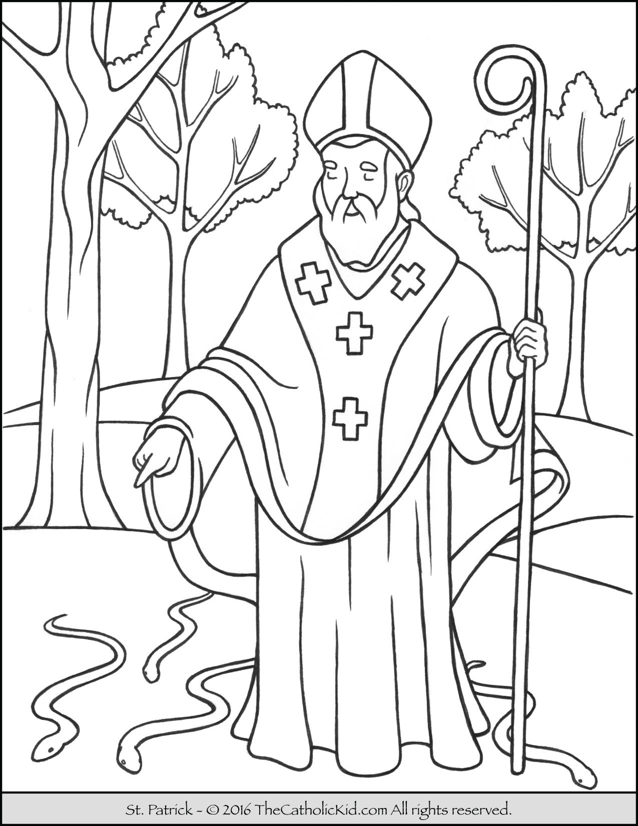 st patrick coloring pages Saint Patrick Coloring Page   The Catholic Kid st patrick coloring pages
