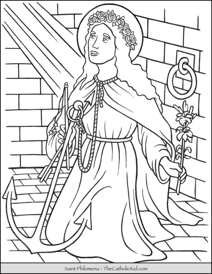 Saint Philomena Coloring Page