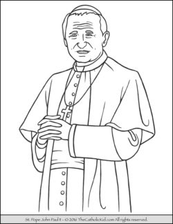 Saint Pope John Paul II Coloring Page