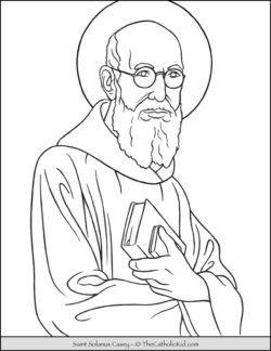 Saint Solanus Casey Coloring Page