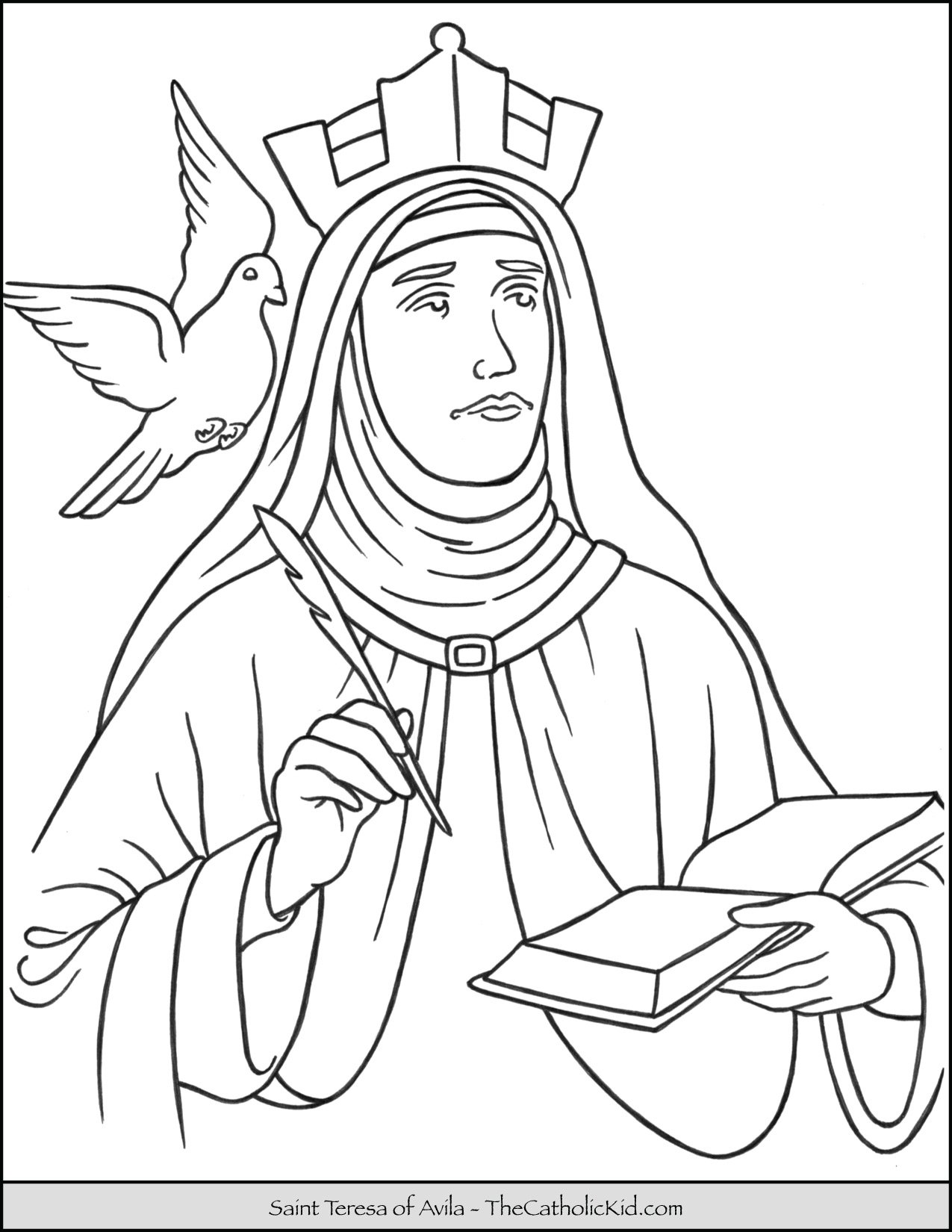 Saint Teresa of Avila Coloring Page