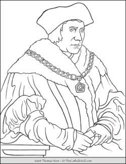 Saint Thomas More Coloring Page