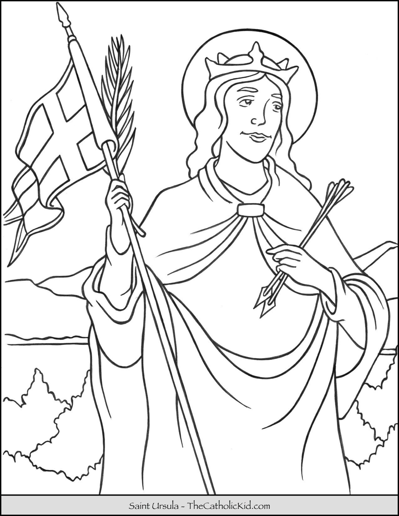 Saint Ursula Coloring Page