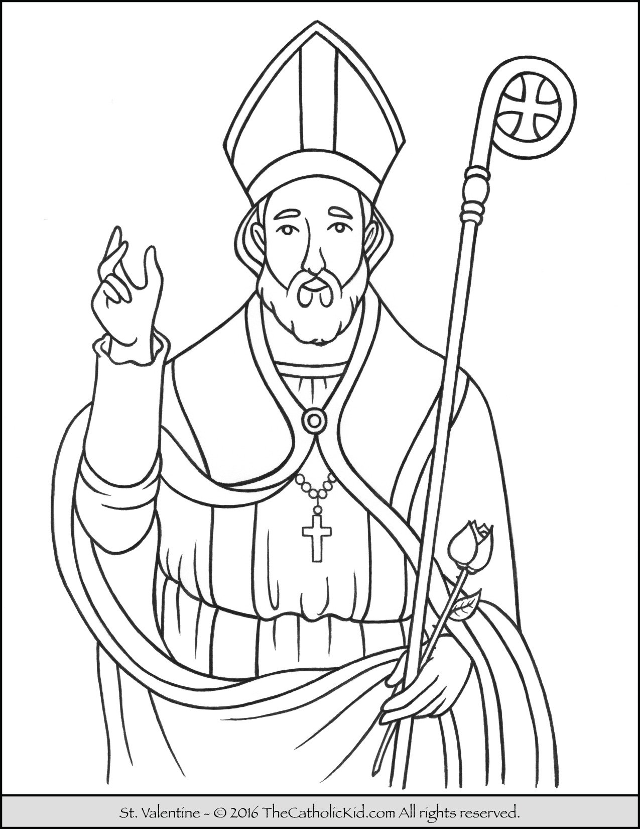 Valentine st valentine free colouring pages for St valentine coloring pages catholic