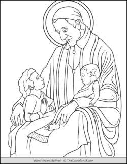 Saint Vincent de Paul Coloring Page