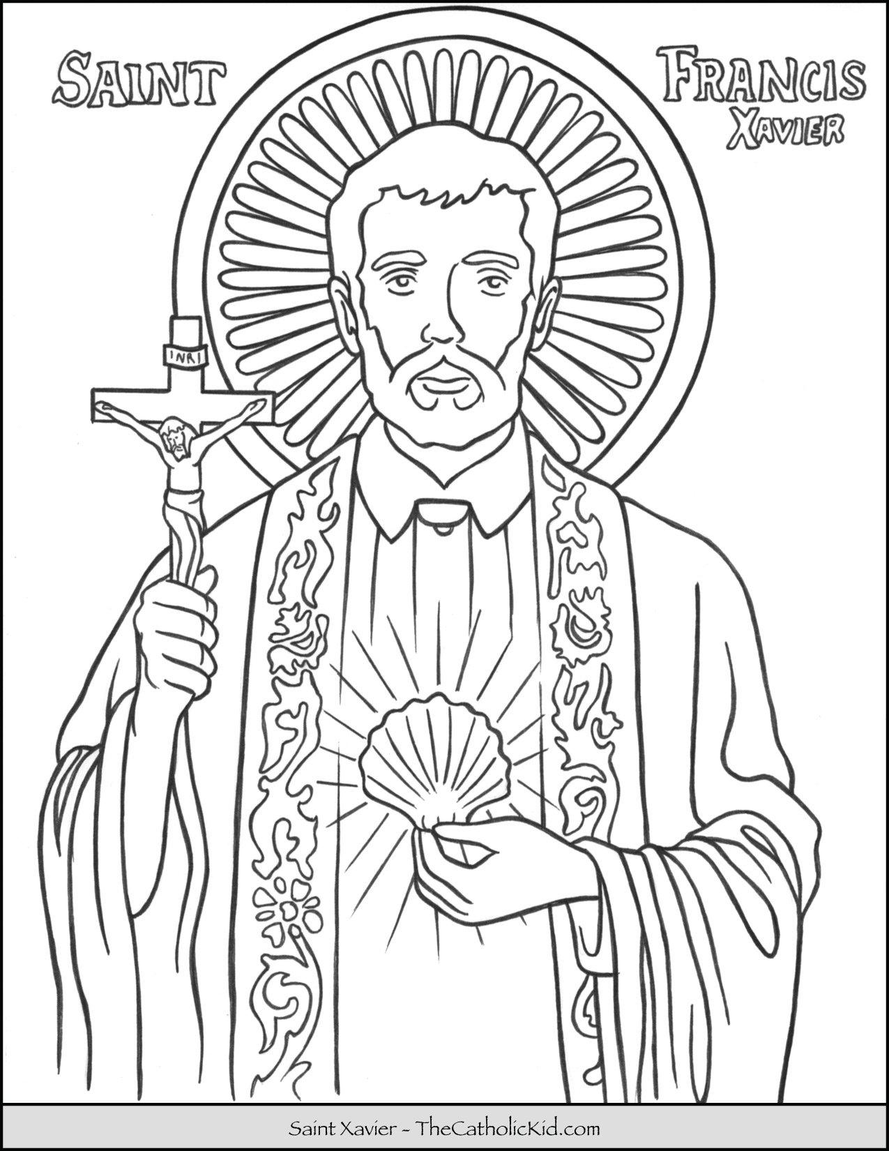 Saint Francis Xavier Coloring Page