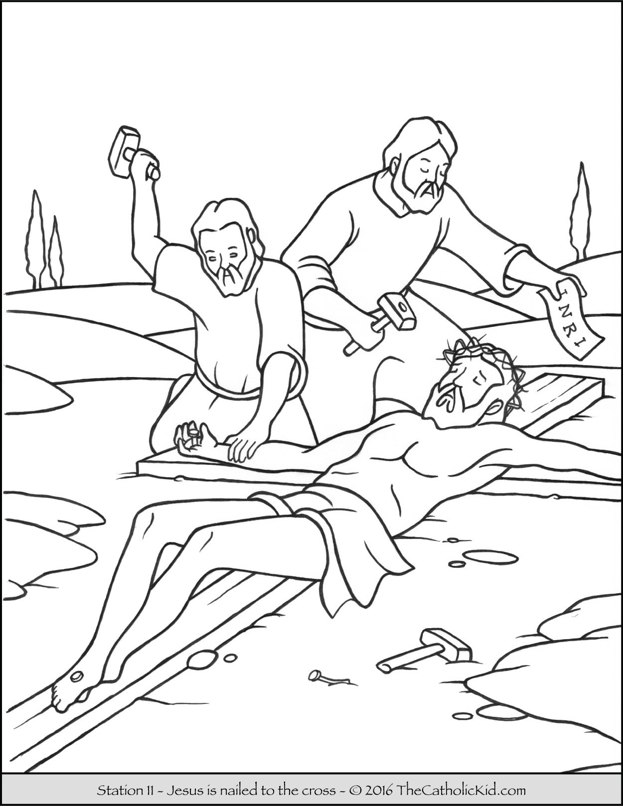 Stations Of The Cross Coloring Pages Amusing Stations Of The Cross Coloring Pages  The Catholic Kid Decorating Design