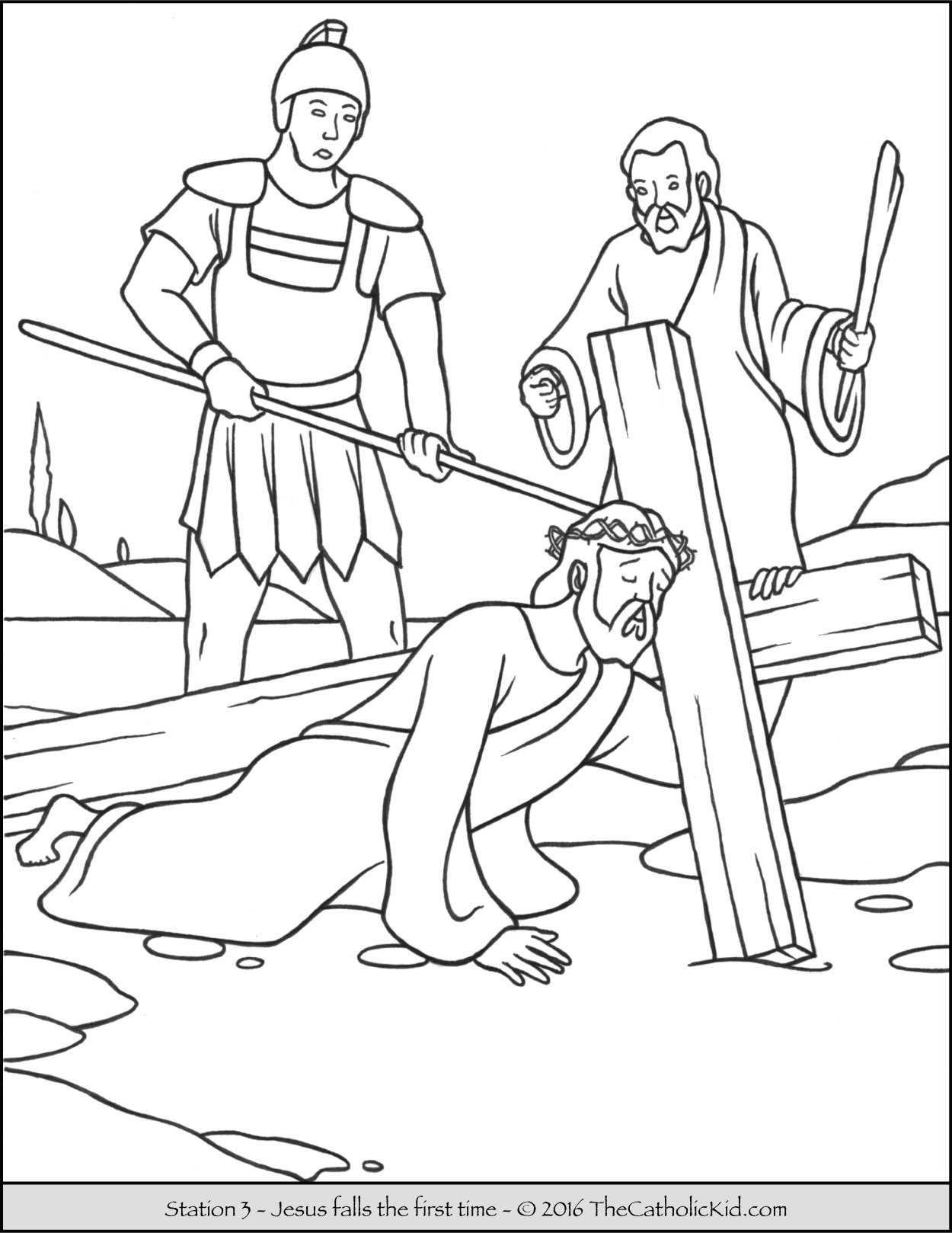 stations of the cross coloring pages the catholic kid