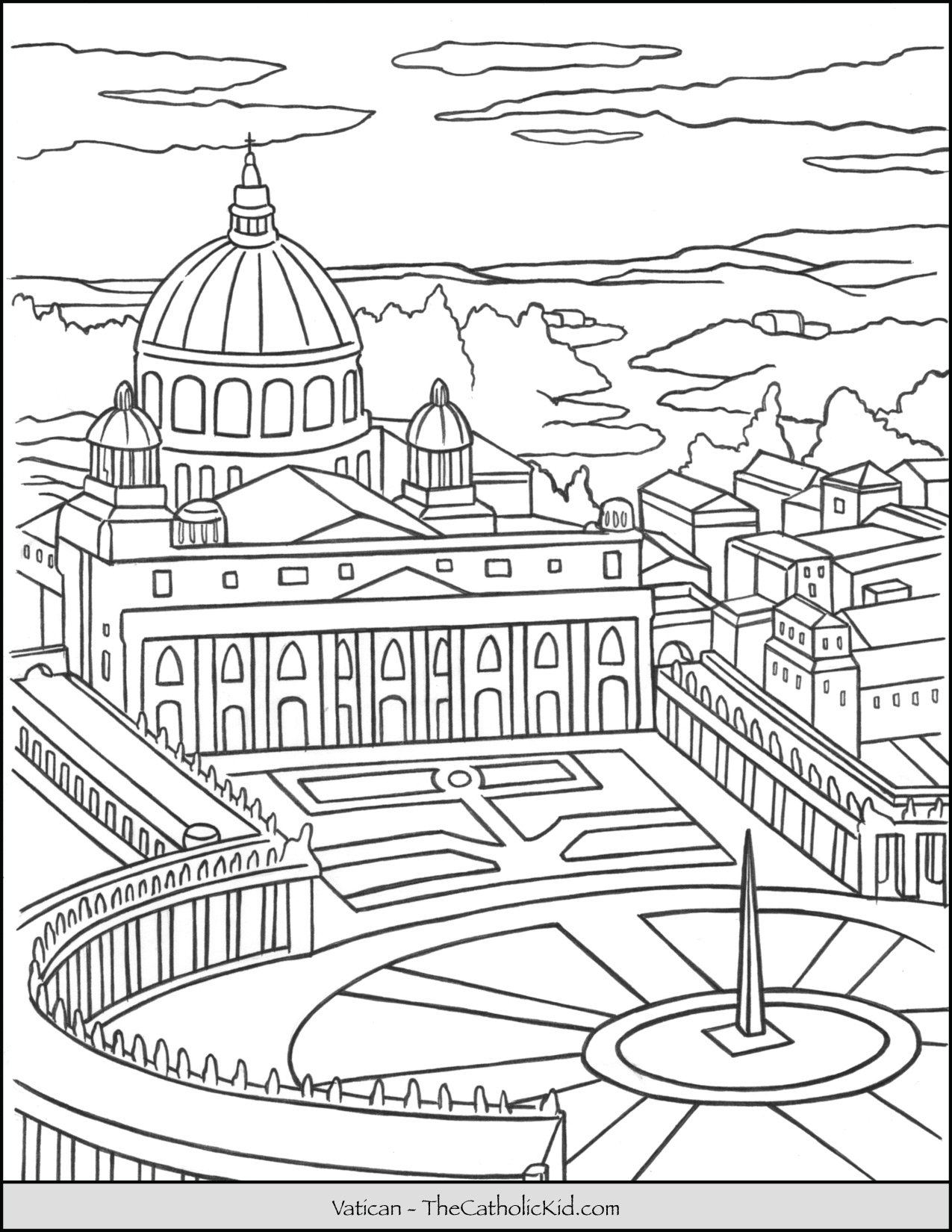 Vatican Coloring Page