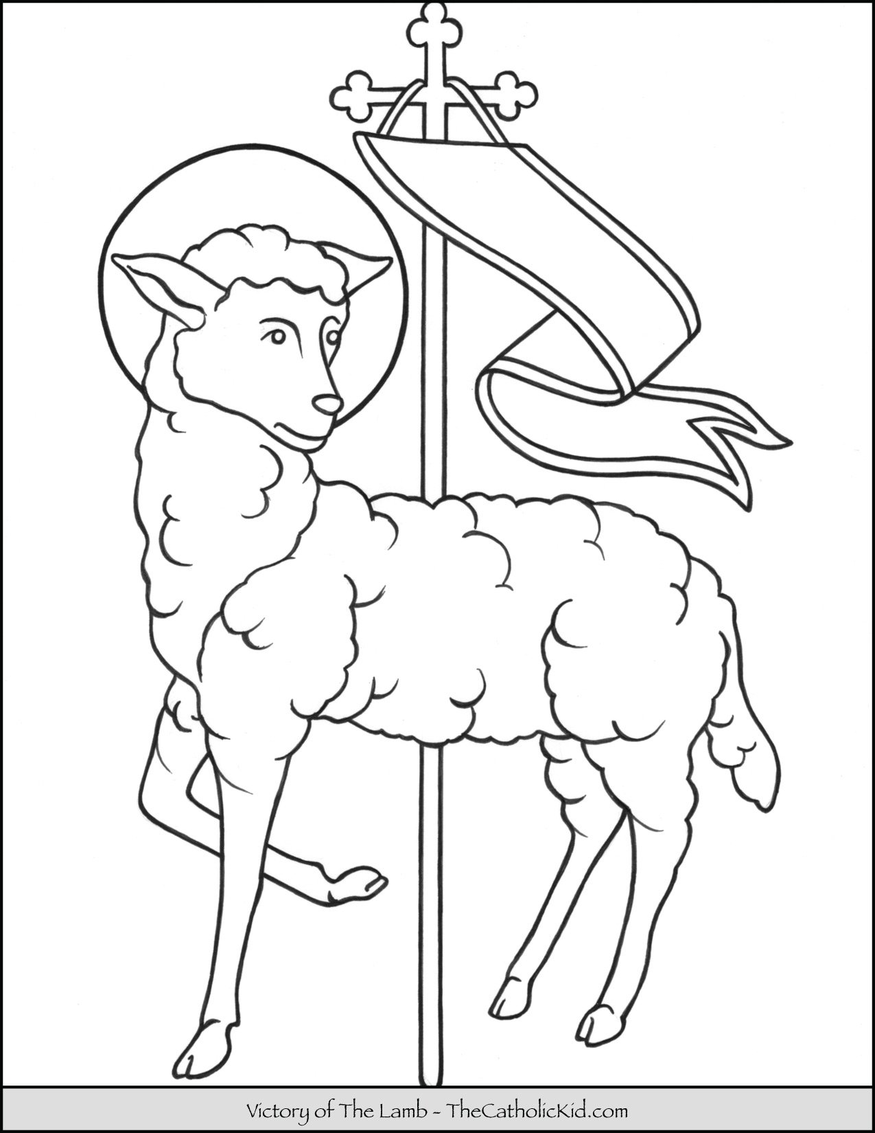Victory of the Lamb Coloring Page