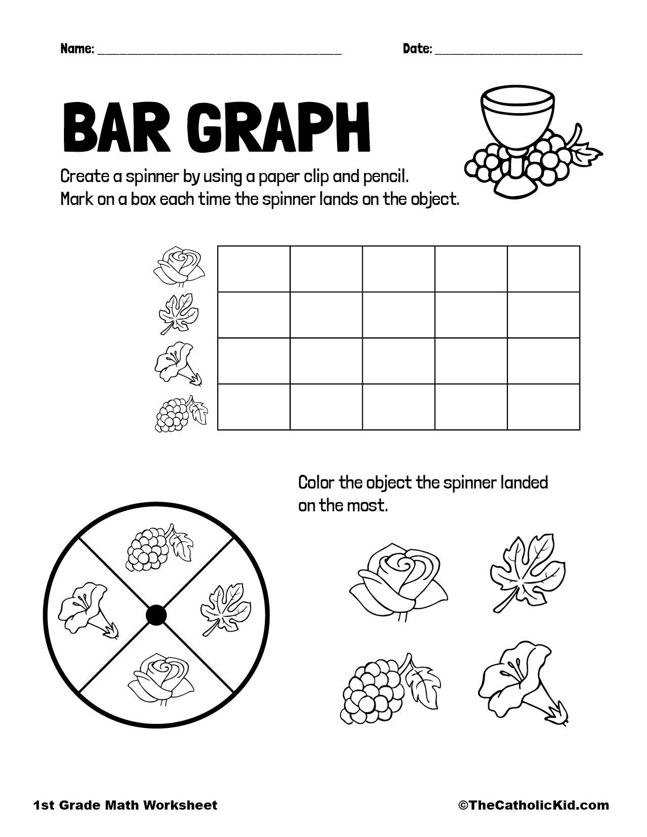 1st Grade Math Catholic Themed Worksheet Graphing
