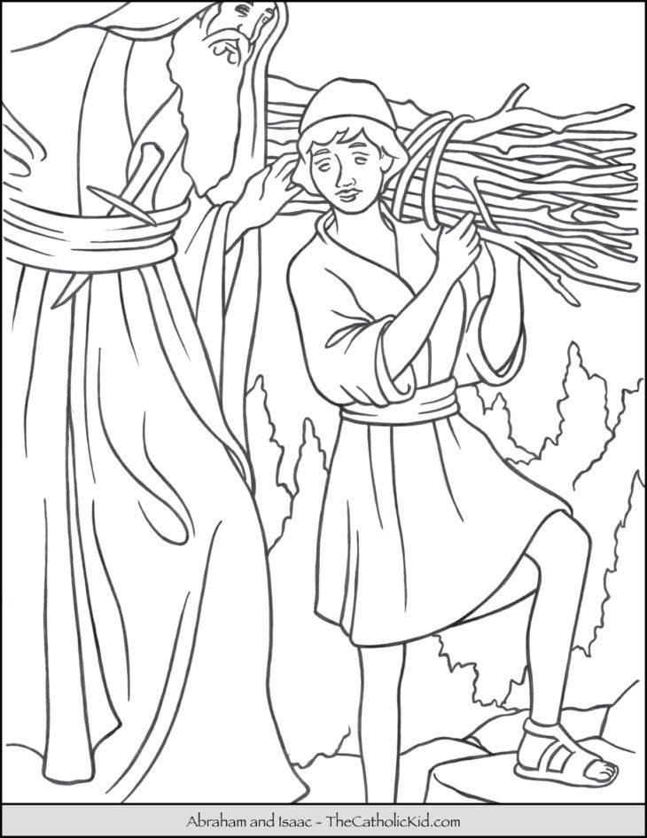 Abraham Isaac Coloring Page