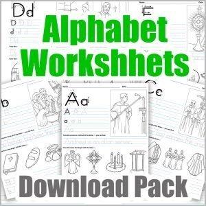 Alphabet Worksheets - Download Pack