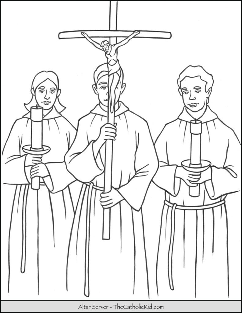 Altar Servers Coloring Page
