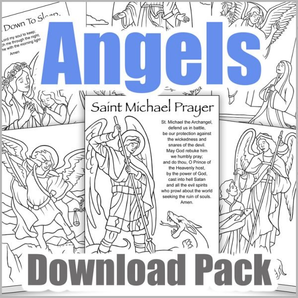 Angels Coloring Page Download Pack