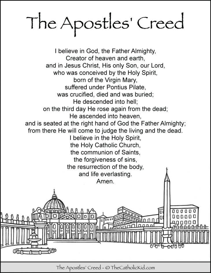 Apostles Creed Coloring Page