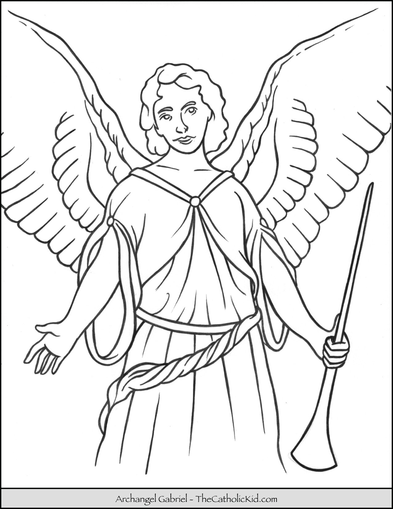 Archangel Gabriel Coloring-page