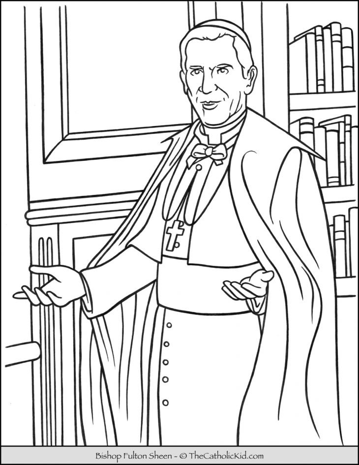 Bishop Fulton Sheen Coloring Page