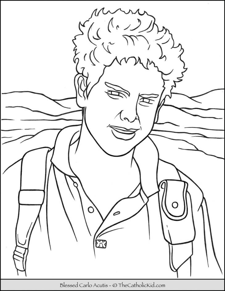 Blessed Carlo Acutis Coloring Page