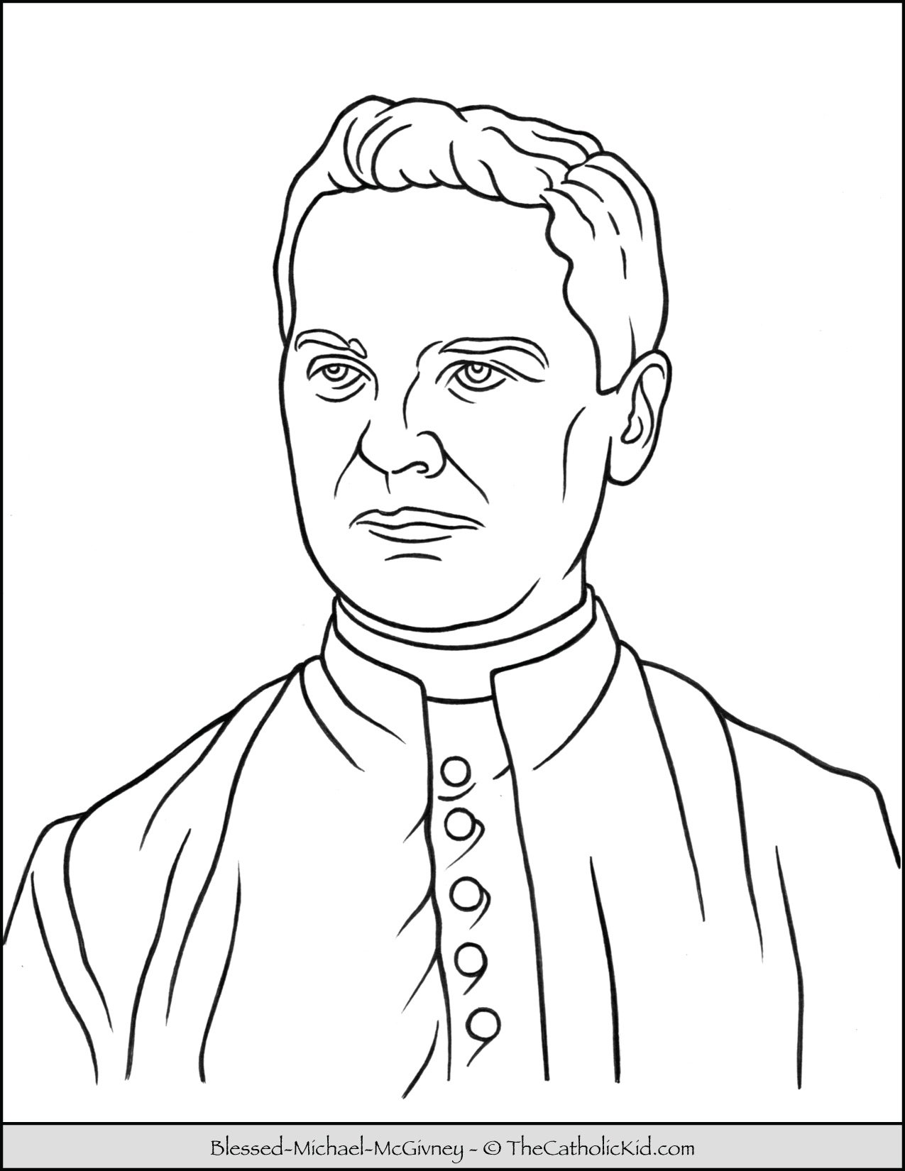 Blessed Michael McGivney Coloring Page