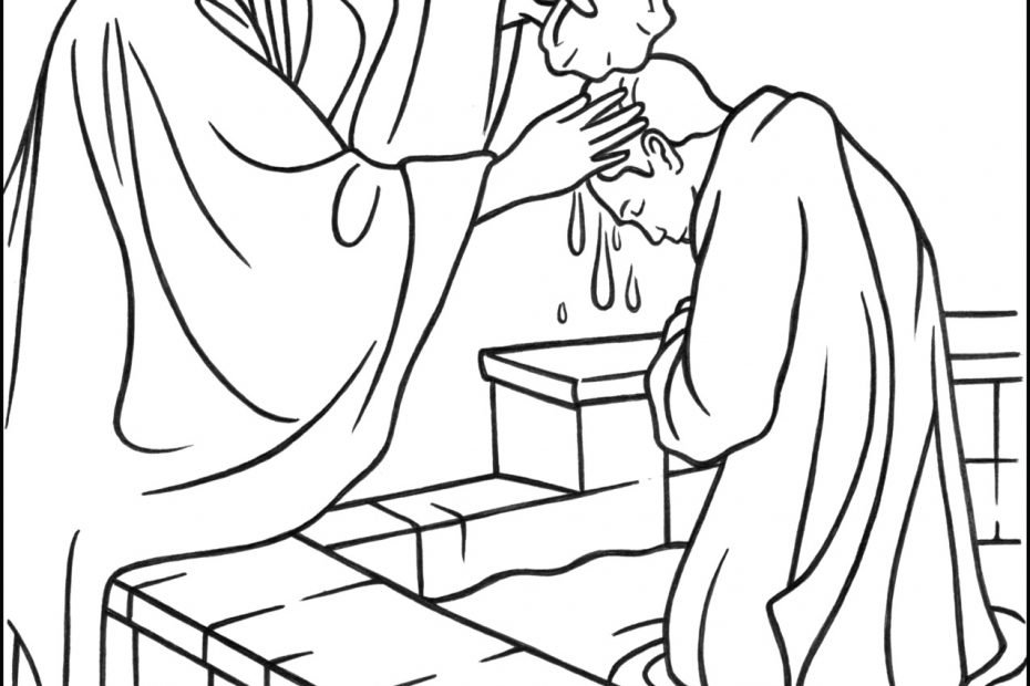 Sacrament of Baptism Coloring Page
