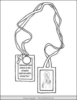 Brown Scapular Coloring Page