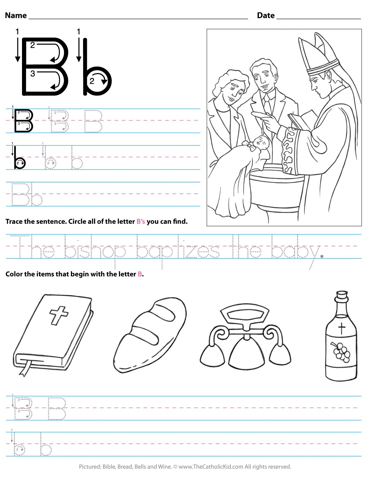 Letter B Coloring Pages, Worksheets and Color Posters | 1650x1275
