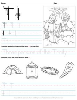 Catholic Alphabet Letter T Worksheet Preschool Kindergarten