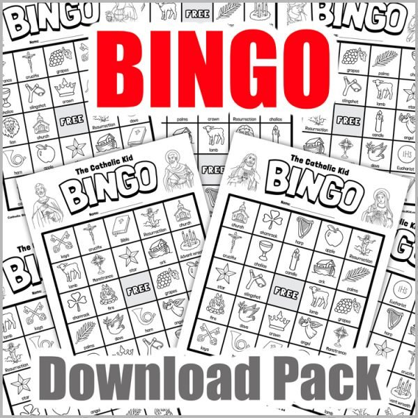 Catholic Bingo Cards - Download Pack