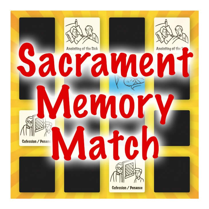 Catholic Sacrament Memory Match Game