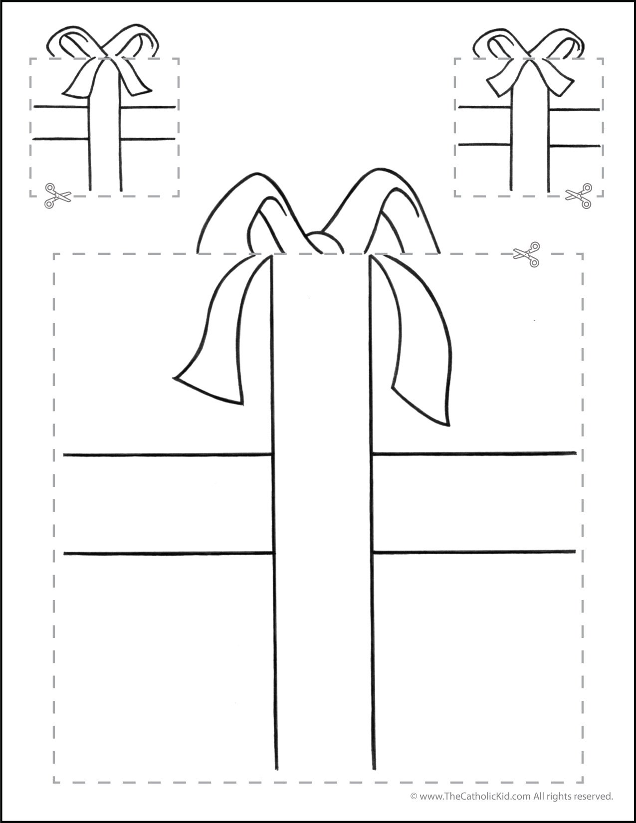 Catholic Scissor Simple Practice Cutting Worksheet Squares