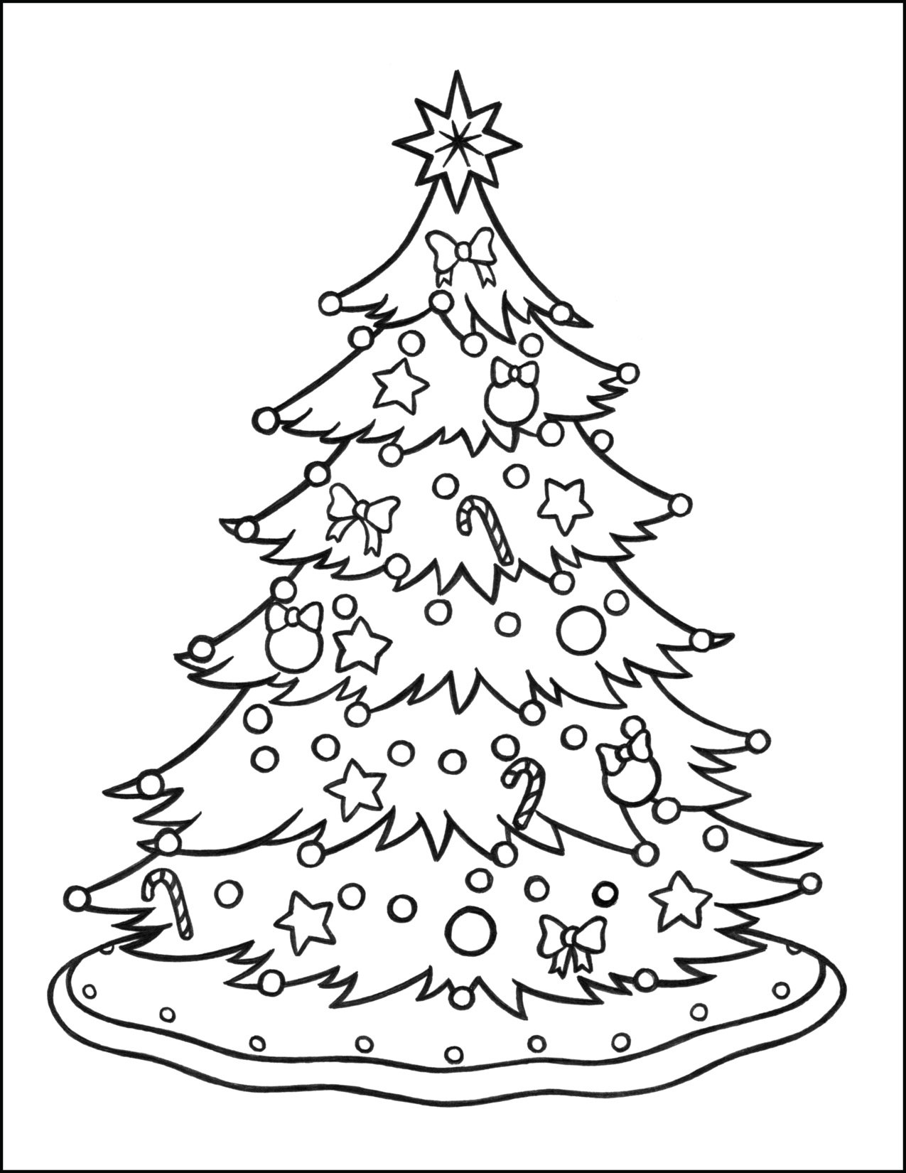Christmas Tree Coloring Page Christmas Coloring Pages