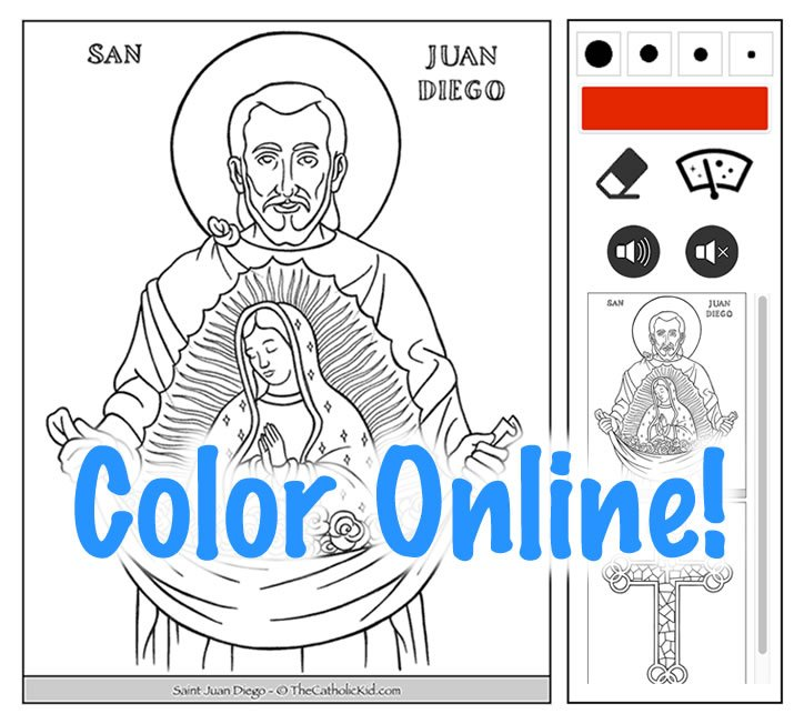 Color Online Catholic Coloring Pages