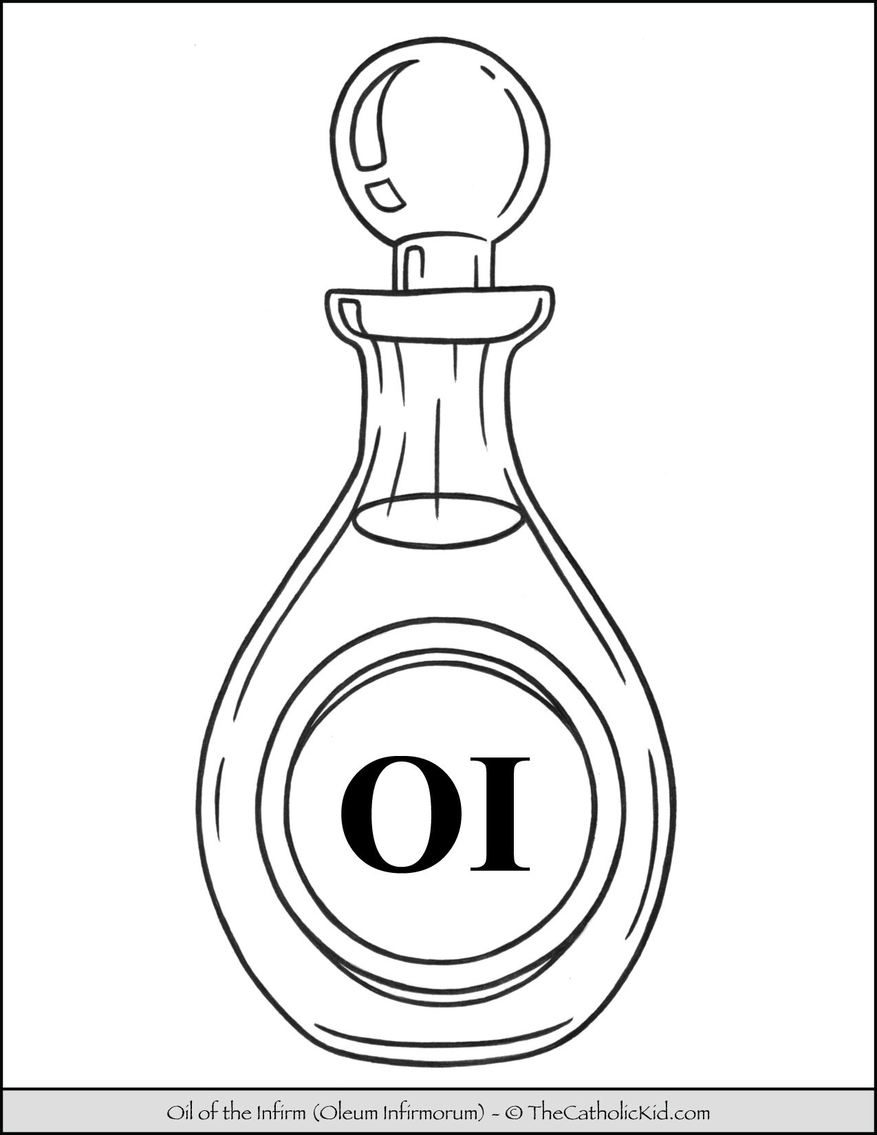 Oil of the Infirm Coloring Page