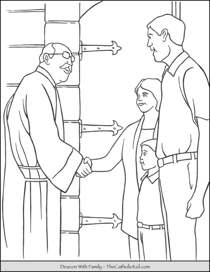 Deacon Coloring Page